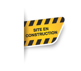 Etiquette Site en construction