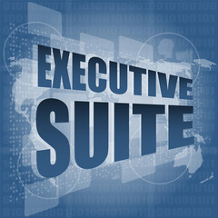 executive suite, interface hi technology, touch screen