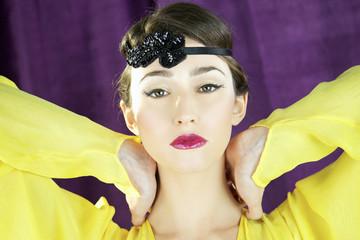 Beautiful closeup of perfect female model