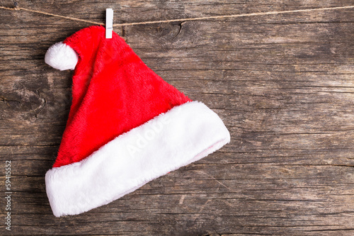 Santa hat on rope