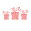 Silhouette gift box filled with snowflake
