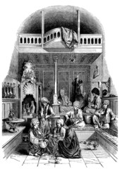 Traditional Arabian Café