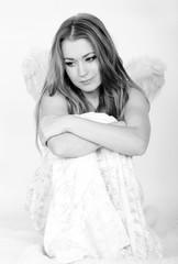 The beautiful girl an angel