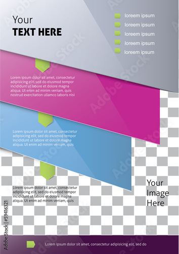 Vector brochure cover template
