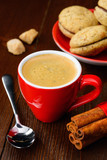 Cup of espresso and cookies