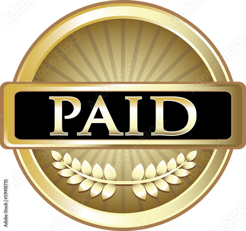 Paid Gold Vintage Label