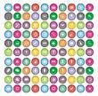 100 round icon sets