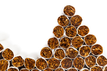 cigarettes heap on the production line