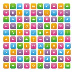 100 flat style icon sets