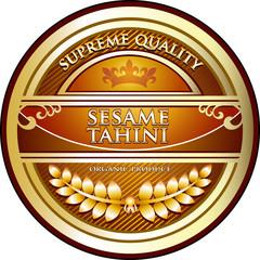 Sesame Tahini Vintage Label