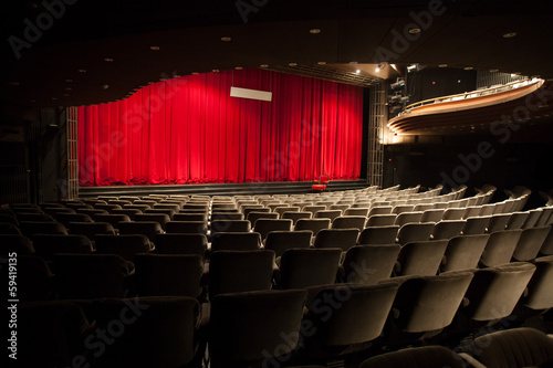 Foto op Canvas Theater empty theater