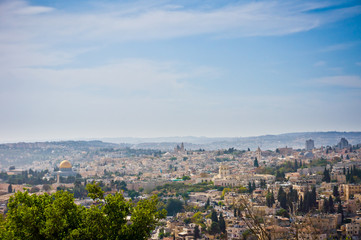 Beautiful view of Jerusalem city, Israel