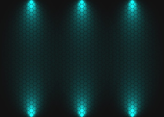 Digital honeycomb background