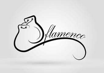 Logo flamenco. castanets