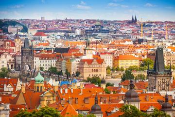 Prague downtown panorama