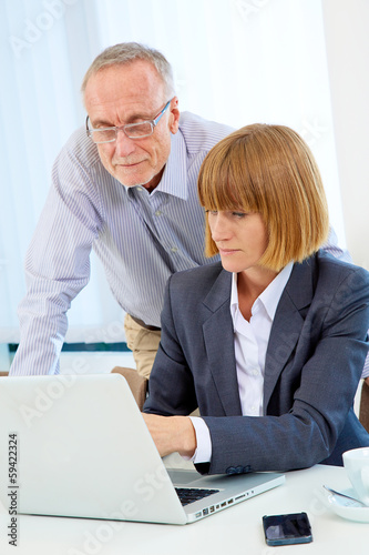 Business team with laptop 2