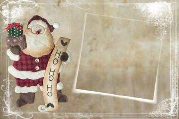 Tarjeta de felicitación de Navidad con un Santa Claus