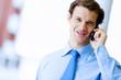 Businessman speaking mobile phone