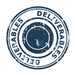 Deliverables concept stamp