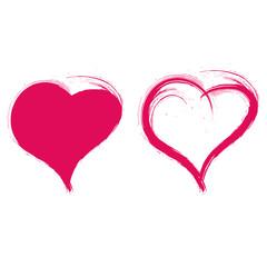 Zwei Herzen, Doppelherz, verliebt, Liebespaar