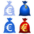 Variations Currency sack Euro EUR; eps8