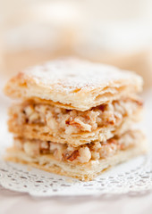 Almond mille feuille.