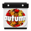 Autumn Leaves Ball Calendar Start Change Season
