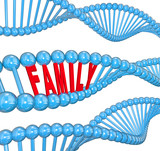 Family Word DNA Strand Biology Hereditary Traits