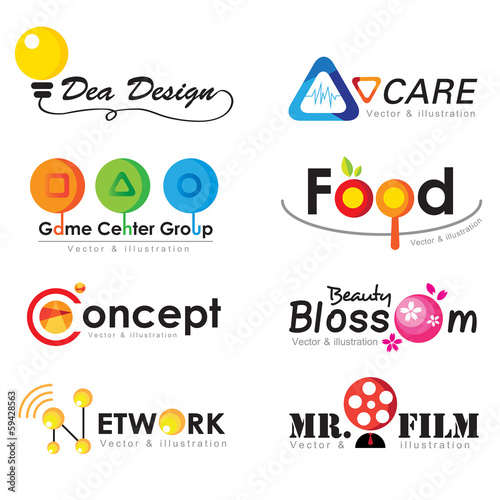 Collection logo elements, business icon