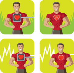 Healthy heart icon