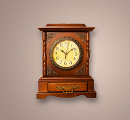 Vintage old clock with showing preicse time