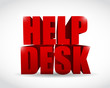 red help desk sign illustration design