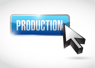production blue button illustration design