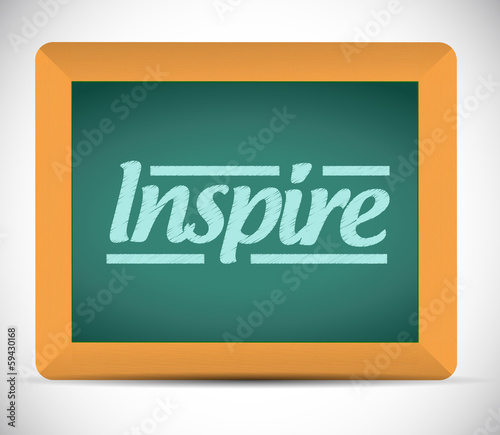 word inspire written on a blackboard.