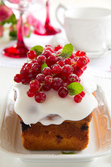 Cupcake with red currant.