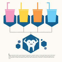 Happy tooth,infographic.