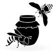Obrazy na płótnie, fototapety, zdjęcia, fotoobrazy drukowane : Black bees and honey