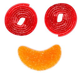Abstract Jelly Happy Face