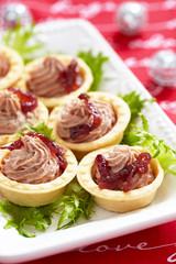 Pate tartlets
