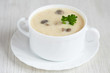 Mushroom cream soup with potato