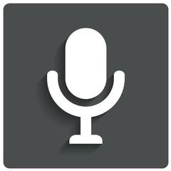 Microphone icon. Speaker symbol. Live music.