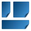 Sticker Set mit gebogener Ecke - blau