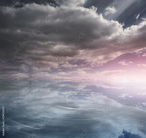 Heavenly water and sky
