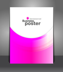 Abstract Stylish presentation of business poster