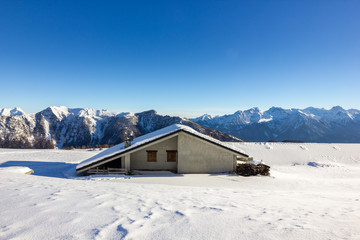 Casa vacanze in montagna con neve