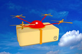 drone aerial freight poster