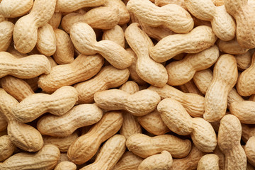 Peanuts in shell texture background