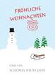 weihnachten und neujahr im schnee