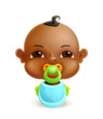 African baby, vector icon
