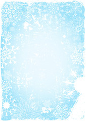 Blue grungy christmas card